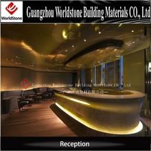 U shape reception desk, led reception, marble reception desk