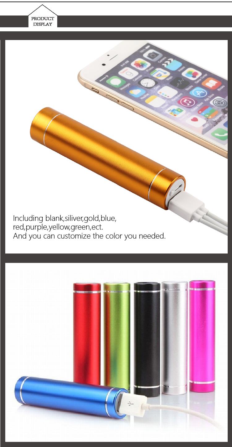 2015 Alumínio 18650 USB Banco Do Poder 2600 mAh Carregador de Bateria Portátil Para O Presente de Natal