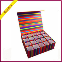 Rigid cardboard luxury custom candle gift box with divider