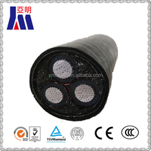 XLPE insulated pvc sheathed 3 core power cables,electrical aluminum cable and wire