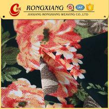 Designer fabric supplier printed polyester chiffon fabric flower