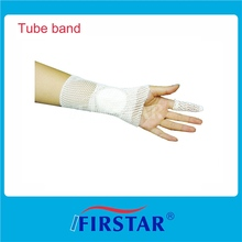 manufactured cotton tubular bandage made of nylon-covered rubber yarn holds