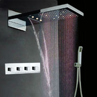Double head shower,stainless steel two function rainfall,waterfall double head shower