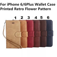 New Retro Frosted Case Luxury PU Leather Wallet Stand Cover Flip Pouch For iPhone 6 6Plus With Card Holder