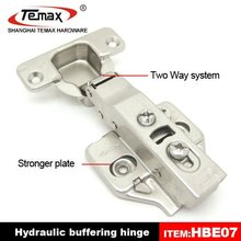 Hot sell 2-way adjustment invisible door hinge with hydraulic cylinder