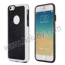 Fashionable Dual Color 3D Cube Pattern Protective PC+TPU Hybrid Flexible Case for iPhone 6 4.7 inch