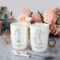 Hot new product for 2015 diamond ring christmas ornament coffee mug ceramic london souvenir gift