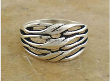 REMARKABLE .925 STERLING SILVER STACK BAND RING