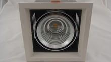 one head cob led grille downlight 1*40w bridgelux chip recessed led cob downlight