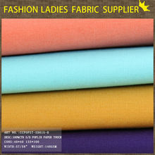 Chinese fabric 2014 cotton solid poplin fabric for garment and clothing 40*40 133*72 57/58""
