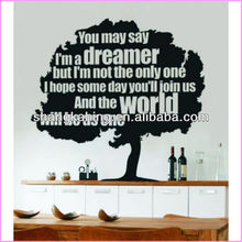 New Fashion Words Design Vinyl Wall Quotes ,wall words,wall saying For Bedroom