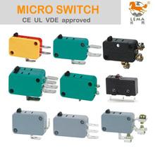 <span class=keywords><strong>LEMA</strong></span> UL VDE 125V 250V AC 8A 10A 15A 16A microinterruptor eléctrico