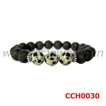 2015 HOT the newest style high quality beautiful jasper and lava stone wholesale lava bead bracelet