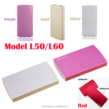 USB Power Bank Portable Outdoor Battery for Cell Phone with 6000mAh capacity