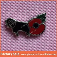 custom lest we forget animal qibla direction gift metal poppy lapel pin