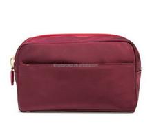 Red Nylon Travel Cosmetics Case