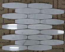 China Factory Wholesale Calacatta White Marble Bowling Ball Mosaic Tiles