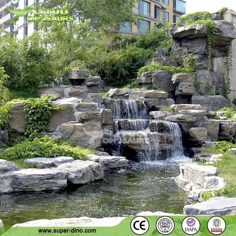 jardin d coration artificielle rocher cascade produits en pierre jardin id du produit. Black Bedroom Furniture Sets. Home Design Ideas