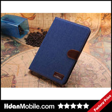 2014 Popular Tablet Accessories Jean Cover Case Stand Leather Case For iPad mini2