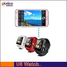 2015 hot sale china best android u8 smart watch phone, bluetooth smart watch u8