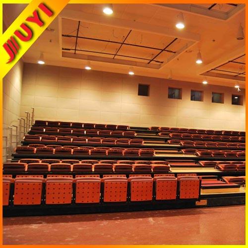 Manuel ou électrique gradins télescopiques tribune sièges rétractables système avec pliable chaise JY-720