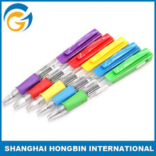 White Barrel Plastic Promotional Light Ball Pen with Led Light