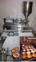 Flour paste and jam filling machine for cake Bread Jam injecting machine