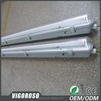 Emergency IP65 Tri-proof LED Light fluorescent lamp tube 1500mm 5foot waterproof pendant lighting fixture