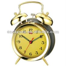 Retro mechanical twin bell alarm clock