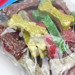 Nice dog treat pet chews munchies in bone shape