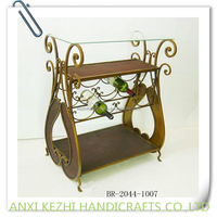 metal wine rack table with glass top