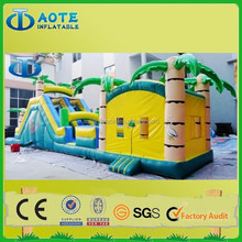 cheap commercial giant inflatable slide, inflatable jumping water slide for sale