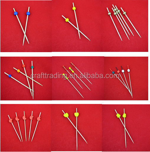 Promotion Lovely Bamboo Party Heart Skewer