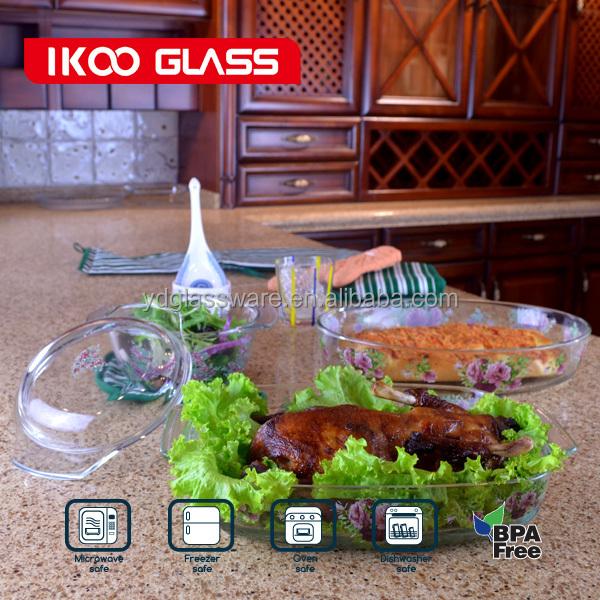 2.0l clara borosilicato de vidro resistente ao calor caçarolas