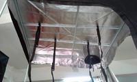 """D"" shaped door hydroponic plants 600D Mylar Oxford cloth grow tent"