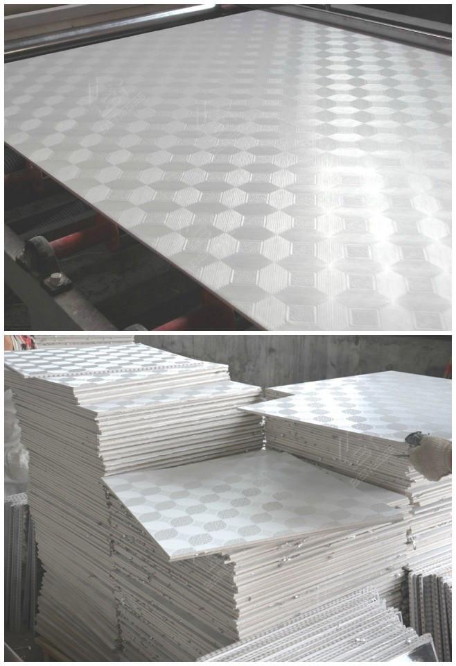 Vinyl coated gypsum ceiling tiles