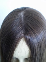 direct factory large stock! natural color virgin remy human hair thin skin top lace wig