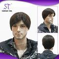 Guangzhou perucas masculinas cabelo natural