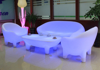 Nightclub use multi colors changing outdoor plastic LED furniture