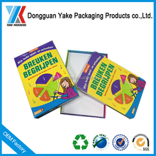 Factory price,high quality kid play card packaging box,dongguan factory!