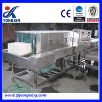 made in china plastic crate washing machine commercial plastic box washer