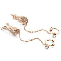 Fashion earring wing designs new model earring chain in ear, chained cartilage earring