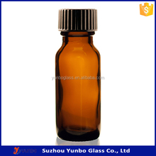 Hot Product 0.5 oz Amber Glass Bottle Wholesale with Black Poly Cone Cap