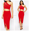 Ladies night club dress red mini dress one should design two pieces dress for girls