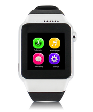 2015 Fashion Touch screen pedometer GSM hands free low cost smart watch gv18 mobile phone for music play