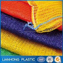cheap PE raschel mesh bags lemon mesh bags orange mesh bags yellow color size 35*60cm