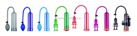 New Colorful Penis Vacuum Enlargement Pump, Adult Sex Toy Z002 for men's penis erection and masturbation