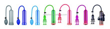 New Colorful Penis Vacuum Enlargement Pump, Adult Sex Toy Z002 for men's penis erection and masturbation