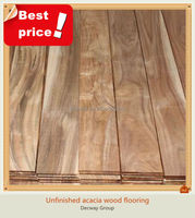 Cheap unfinished acacia wood flooring