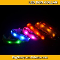 50pcs Wholesale Twins LED Dog Collar Two Sides LED Safety Walk Pet Necklace Collar DC2504A